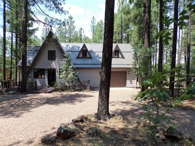 Pinetop Single Family Home For Sale: 3512 Bluegill Drive