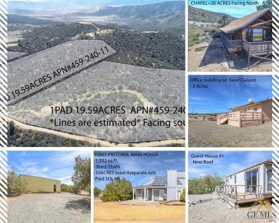 Tehachapi Single Family Home For Sale: 10905 Pretoria Road