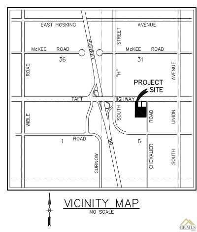 Bakersfield Residential Lots & Land For Sale: Taft Hwy & Chevalier