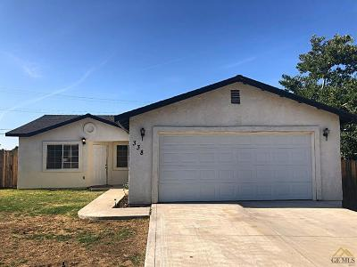 Taft Single Family Home For Sale: 338 D Street