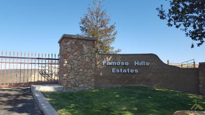 Bakersfield Residential Lots & Land For Sale: Famoso Hills Drive