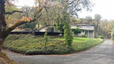 Ukiah Single Family Home For Sale: 1900 Ridge Road