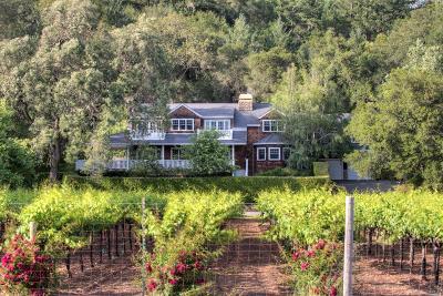 Calistoga Single Family Home For Sale: 3950 Silverado Trail