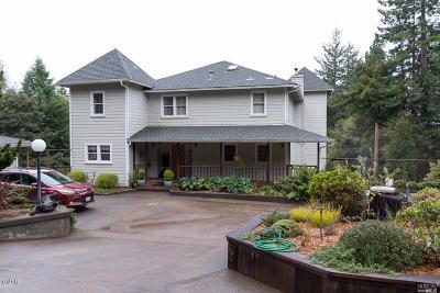 Fort Bragg Single Family Home For Sale: 28401 Simpson Lane