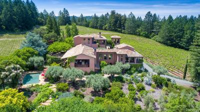Napa County Single Family Home For Sale: 5800 Petrified Forest Road