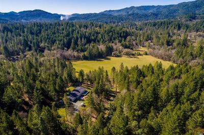 Mendocino County Farm & Ranch For Sale: 1550 Mill Creek Road