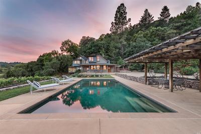 Napa CA Single Family Home For Sale: $3,850,000