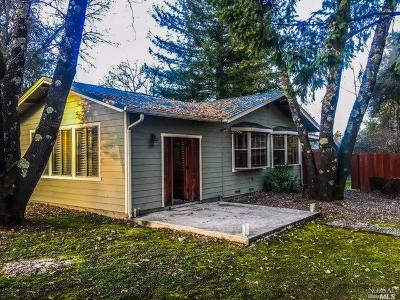 Redwood Valley CA Single Family Home For Sale: $479,000