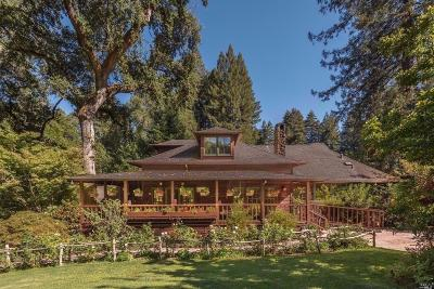 Glen Ellen Single Family Home For Sale: 7930 Sonoma Mountain Road