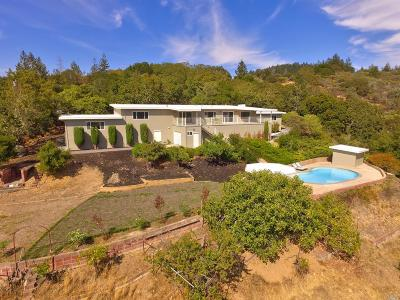 St. Helena Single Family Home For Sale: 6475 Sonoma Highway