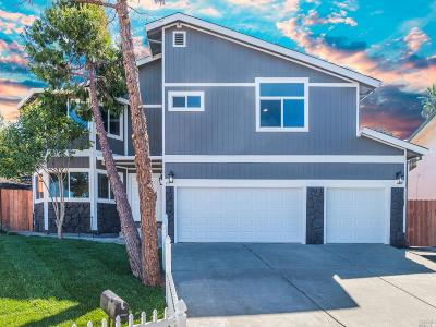Vallejo CA Single Family Home For Sale: $549,000