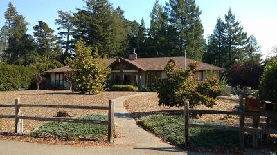 Sebastopol CA Single Family Home For Sale: $1,100,000
