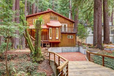 Mill Valley Single Family Home For Sale: 135 Cascade Drive