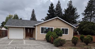 Napa Single Family Home For Sale: 81 Homewood Avenue
