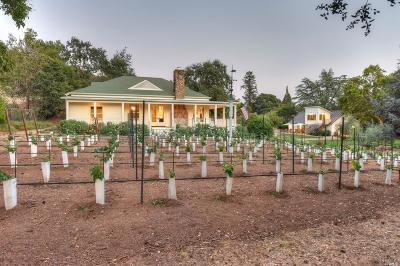 St. Helena CA Single Family Home For Sale: $3,250,000