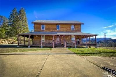 Kelseyville Single Family Home For Sale: 12905 Bottle Rock Road