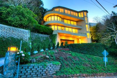 Sausalito CA Single Family Home For Sale: $4,200,000