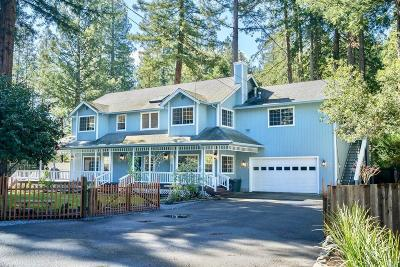 Guerneville CA Single Family Home For Sale: $999,999