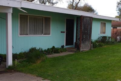 Ukiah CA Single Family Home For Sale: $375,000