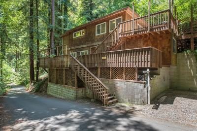 Guerneville CA Single Family Home For Sale: $439,000