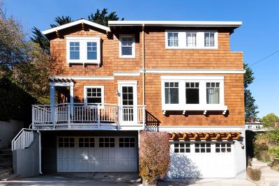 Sausalito Single Family Home For Sale: 718 Spring Street