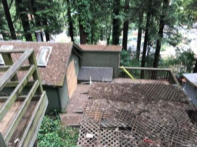 Guerneville CA Single Family Home For Sale: $179,000