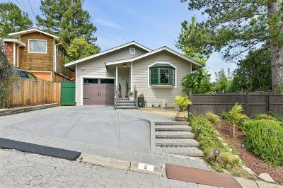 San Anselmo Single Family Home Contingent-Show: 2 Fairview Court