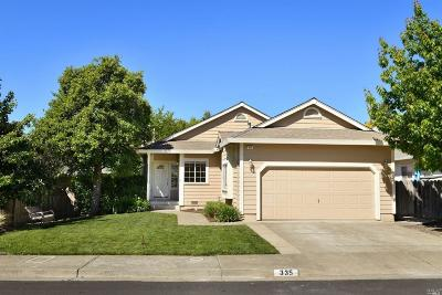 Healdsburg CA Single Family Home For Sale: $625,000
