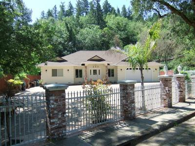 Ukiah CA Single Family Home For Sale: $679,000