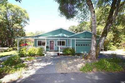 Redwood Valley CA Single Family Home For Sale: $759,000