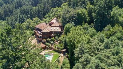 Mill Valley CA Single Family Home For Sale: $6,750,000