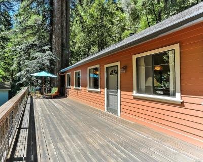 Guerneville CA Single Family Home For Sale: $639,000