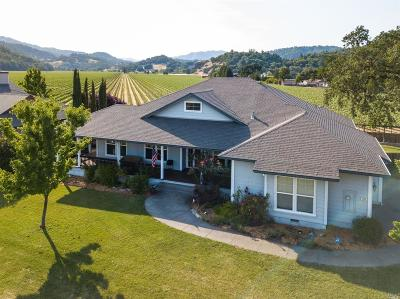 Hopland Single Family Home For Sale: 460 Ralph Bettcher Drive