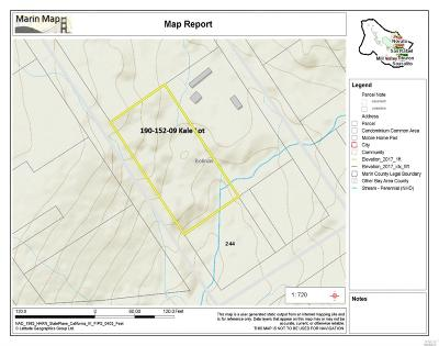 Marin County Residential Lots & Land For Sale: 320 Kale Road