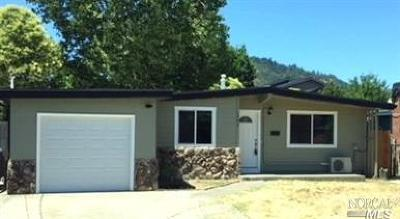 Ukiah Single Family Home For Sale: 1742 Lockwood Drive