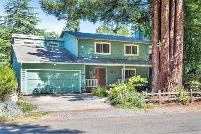 Guerneville CA Single Family Home For Sale: $650,000