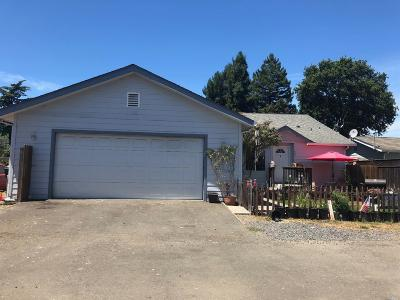 Willits CA Single Family Home For Sale: $299,500