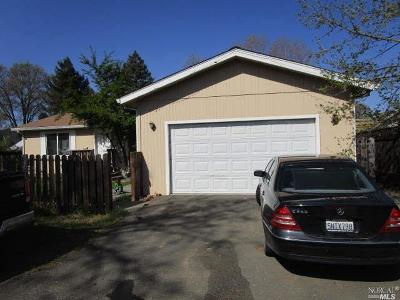 Willits CA Single Family Home For Sale: $280,000