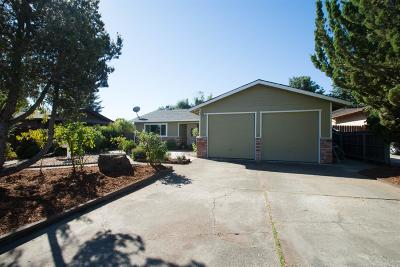 Ukiah Single Family Home For Sale: 1520 Gamay Place