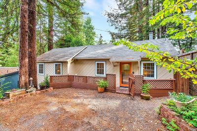 Guerneville CA Single Family Home For Sale: $529,000