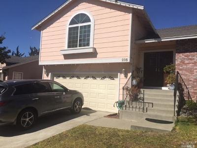 Vallejo Single Family Home For Sale: 235 Sea Mist Drive