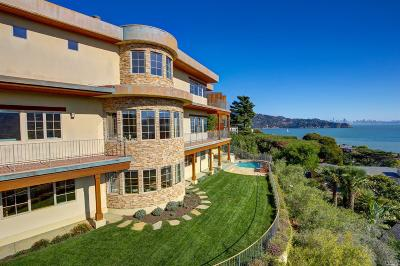 Tiburon CA Single Family Home For Sale: $5,995,000
