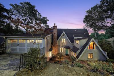 Mill Valley CA Single Family Home For Sale: $3,595,000