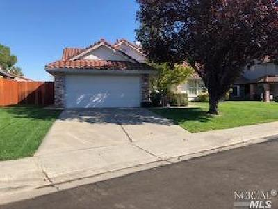 Vacaville CA Single Family Home For Sale: $505,000