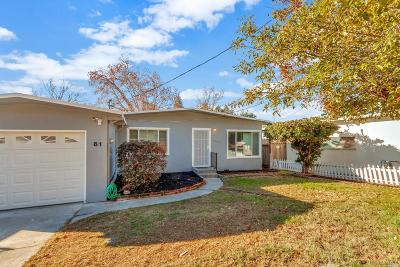 Benicia CA Single Family Home For Sale: $499,950
