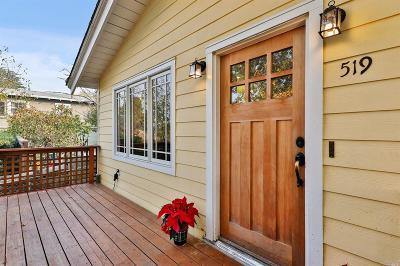 Marin County Single Family Home For Sale: 519 Tamalpais Drive