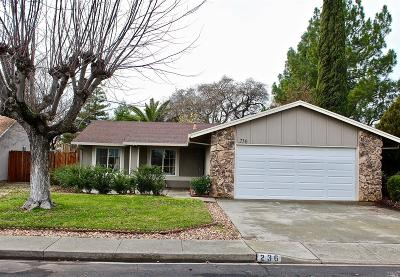 Vacaville Single Family Home Contingent-Show: 236 Edwin Drive
