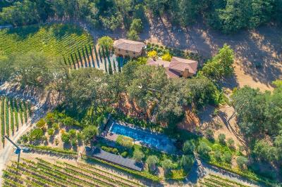 St. Helena CA Single Family Home For Sale: $7,500,000