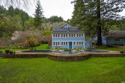 Guerneville Single Family Home For Sale: 17895 Sweetwater Springs Road
