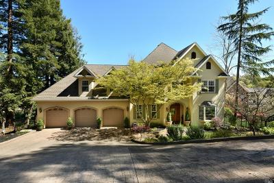 Healdsburg CA Single Family Home For Sale: $2,595,000
